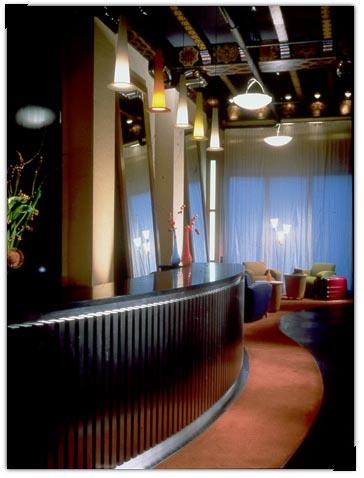 Photo: Lobby of Hotel Metropolis, Tenderloin district, San Francisco.