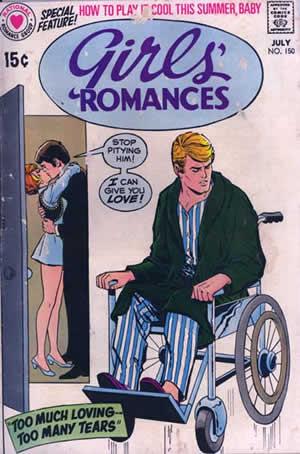 Photo: Cover of a 'Girl's Romances' comic book.