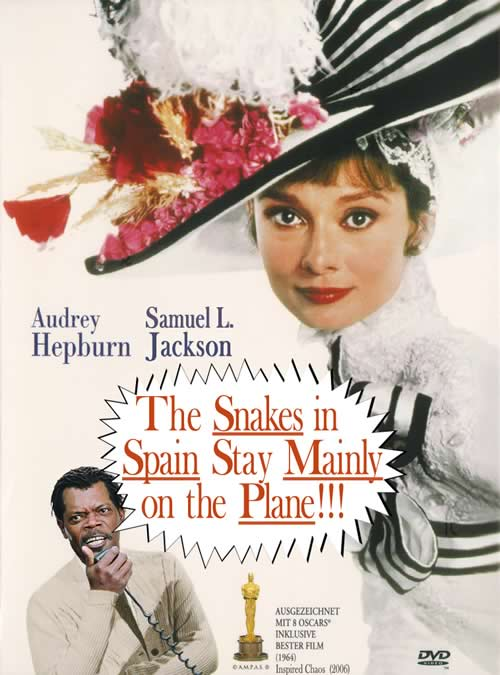 Poster: 'The Snakes in Spain Stay Mainly on the Plane!'