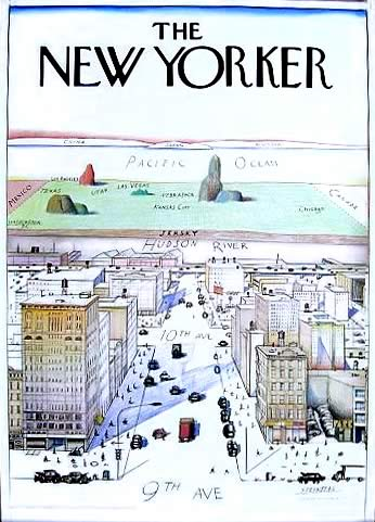 Saul Steinberg's 'New Yorker' cover: 'A View of the World from 9th Avenue