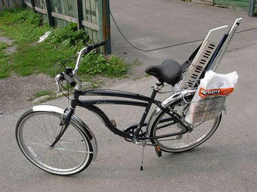 My bicycle, a cobalt blue Trek Calypso cruiser.
