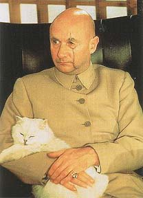 Ernst Stravi Blofeld and cat