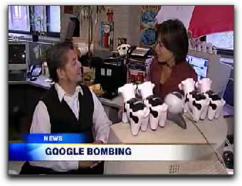 Still frame from City News interview with Joey deVilla on Googlebombing.