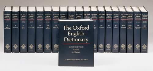 The Oxford English Dictionary in all its glory.