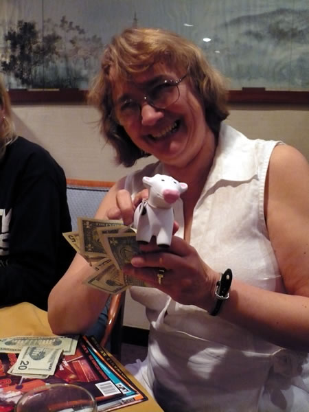 Betsy Devine, a squishy cow and the cash for lunch
