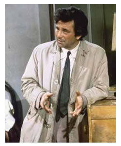 "Peter Falk as ""Columbo"""