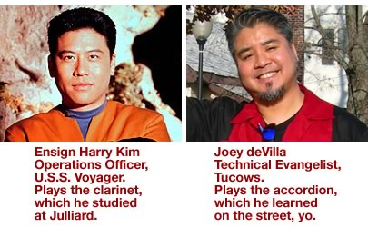 Photos comparing Harry Kim and Joey deVilla
