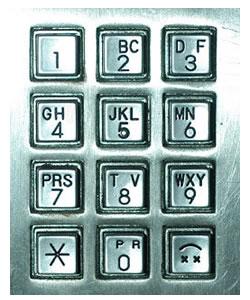 Public phone keypad