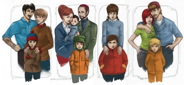 "Illustration: Realistically-drawn ""South Park"" characters (preview)"