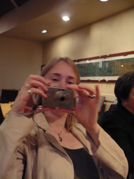 Suw Charman taking a picture of me