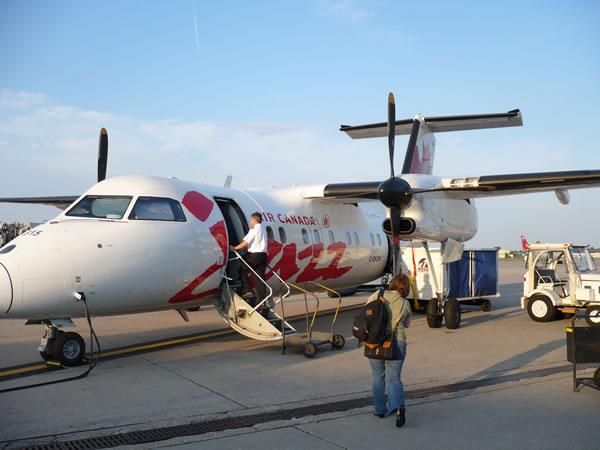 Air Canada Dash 8 at Bradley Airport.