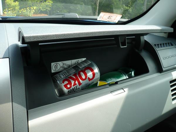 Dodge Avenger dashboard fridge