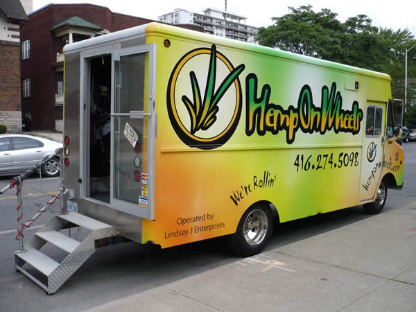 "Photo: The ""Hemp of Wheels"" truck on Bloor Street near High Park"