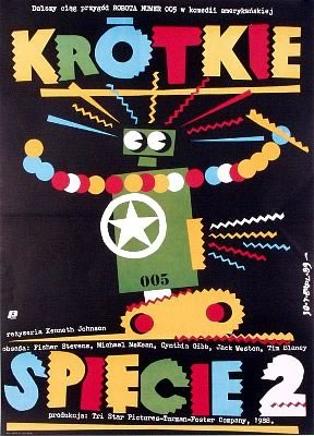 "Polish poster for ""Short Circuit 2"