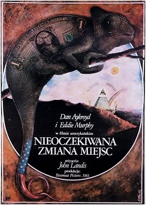 """Polish poster for """"Trading Places"""""""