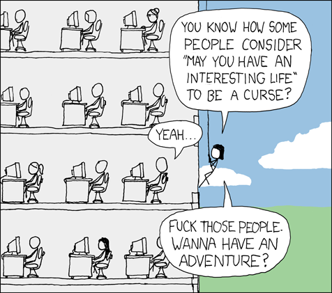 """Interesting Life"" comic from xkcd"