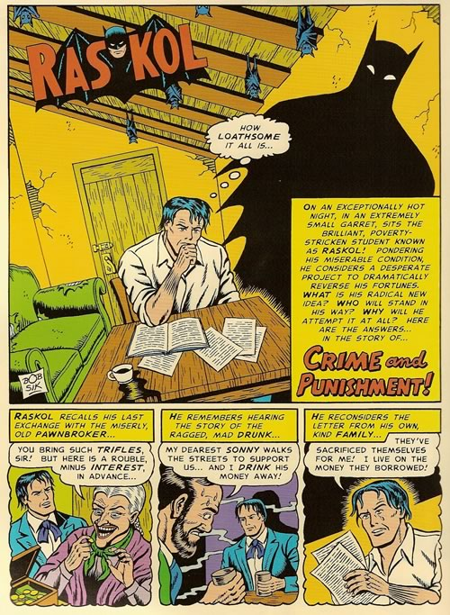 """Page 2 of the Batman-flavoured """"Crime and Punishment"""""""