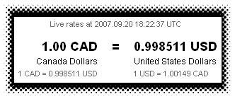 1.00 CAD = 0.998511 USD