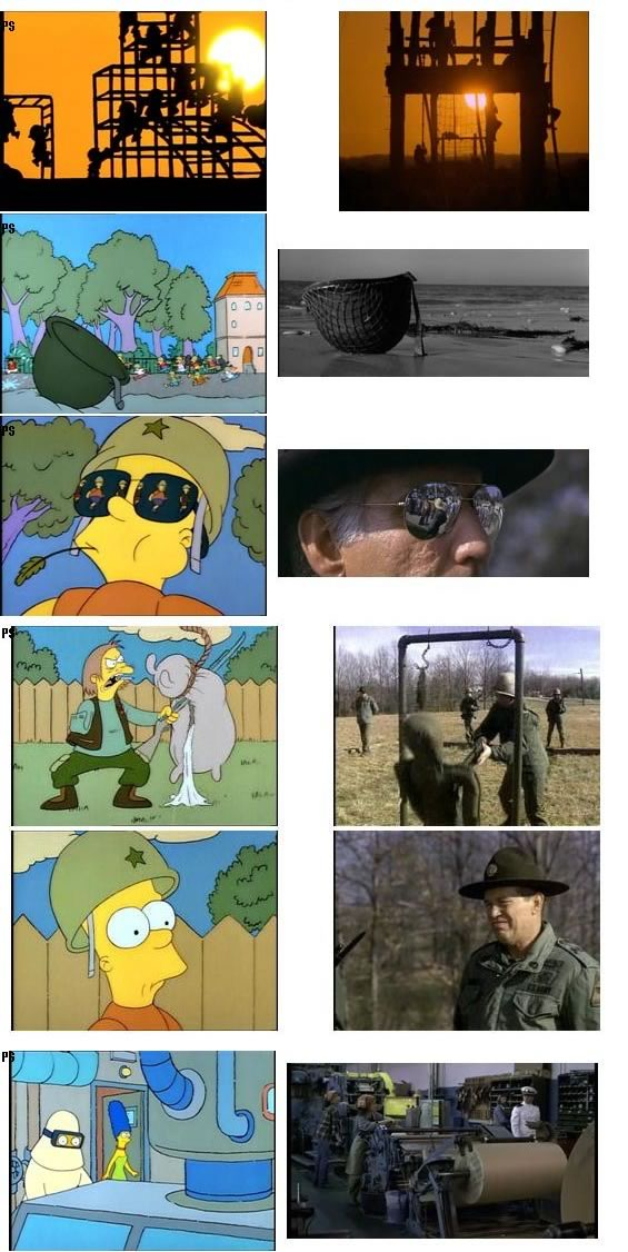 Simpsons Scenes And Their Reference Movies Updated The Adventures Of Accordion Guy In The 21st Century