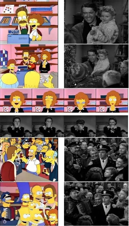 "Simpsons stills referencing ""It's a Wonderful Life"""