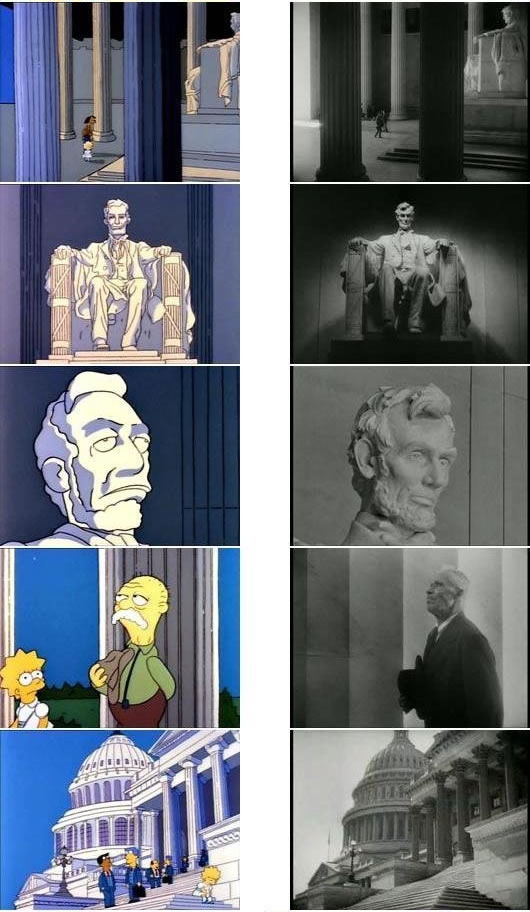"Simpsons stills referencing ""Mr. Smith Goes to Washington"""