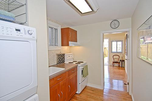 Kitchen of Toronto's smallest house.