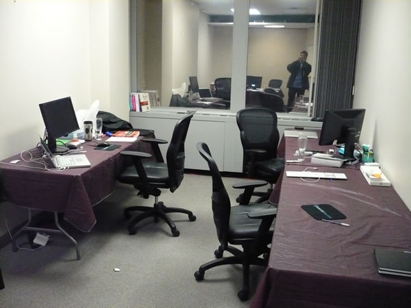 The developer room at TSOT's office