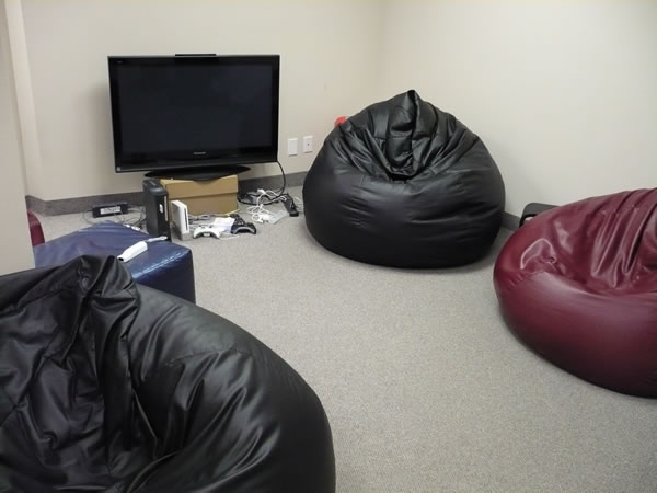The game room at the TSOT office