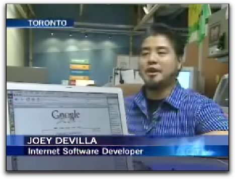 Joey deVilla in an interview on CTV News