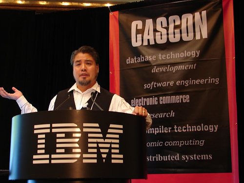 Joey deVilla speaking at CASCON 2005
