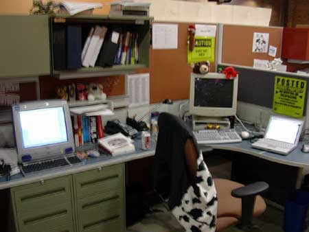 My desk at the Tucows office in Fall 2003.
