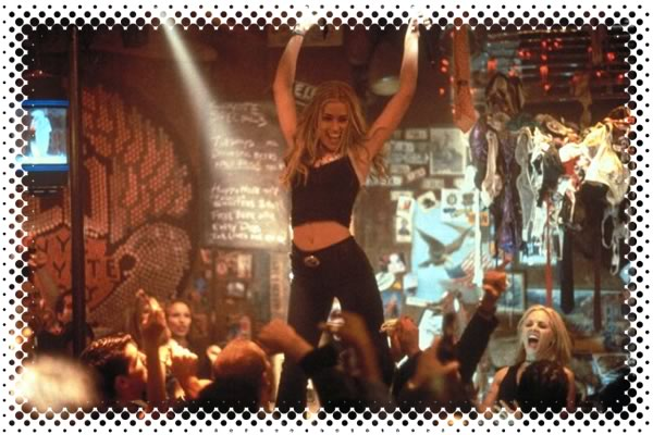 "Woman dancing on the bar in the movie ""Coyote Ugly"""