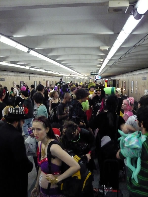 Warden station full of Hallowe'en partiers