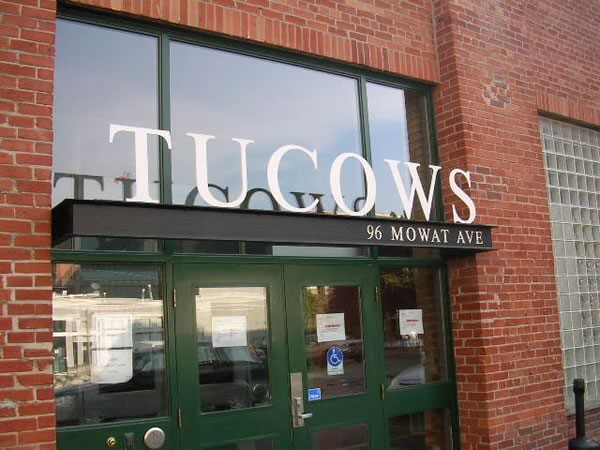 Front door of Tucows' offices