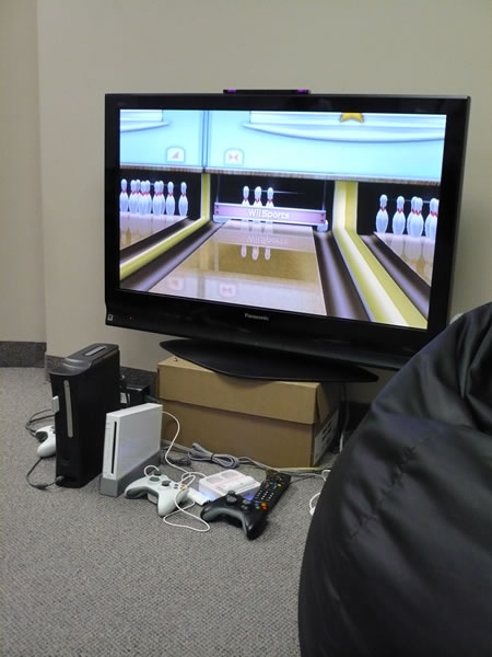 Wii Bowling at the TSOT office