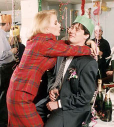 Scene from an office Chistmas party: the drunken grope
