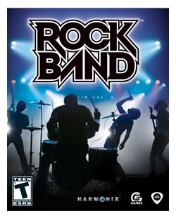 "Packaging for the videogame ""Rock Band"""