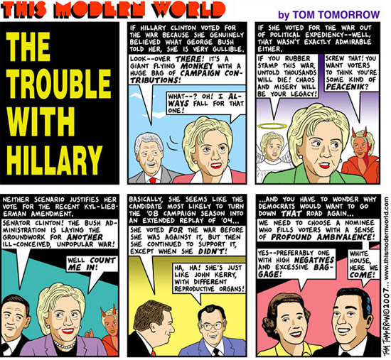 """""""This Modern World"""" comic: """"The Trouble with Hillary"""""""