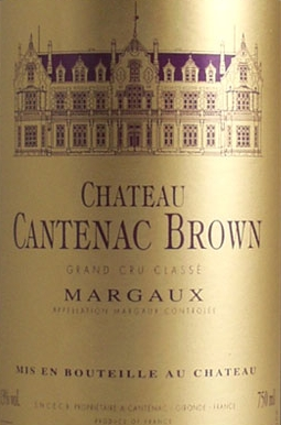 Label for Chateau Cantenac-Brown