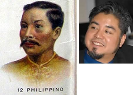 """Philippino"" man from ""New Complete Geography"" side by side with Joey deVilla."