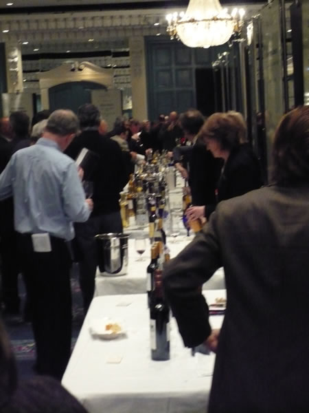 Yet another shot of the Regency Ballroom of the Toronto Four Seasons hotel, where the Vintages tasting of 2005 Bordeaux wines took place.