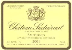 Chateau Suduiraut label