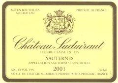 Chateau Suduiraut label