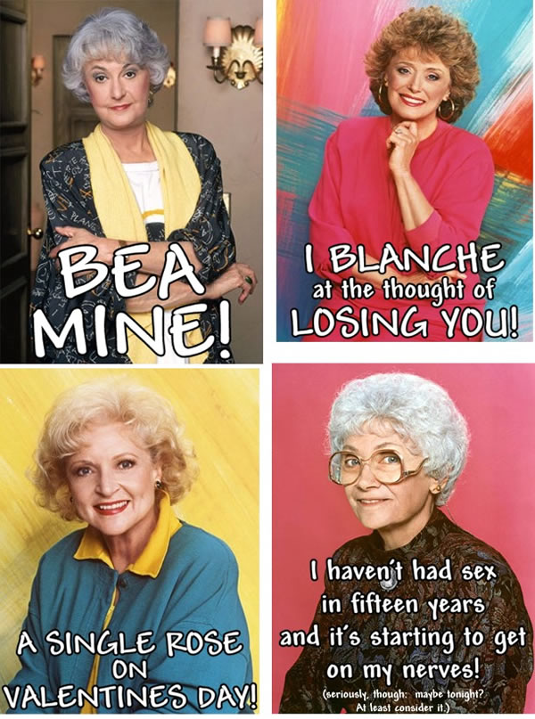 """Golden Girls"" Valentine's Day cards"