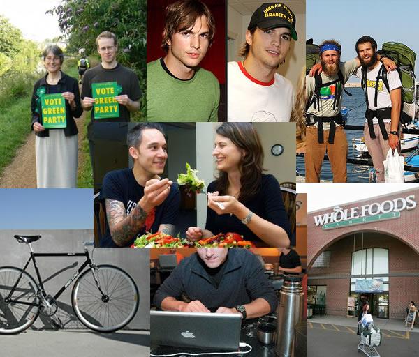 Photo collage: stuff white people like
