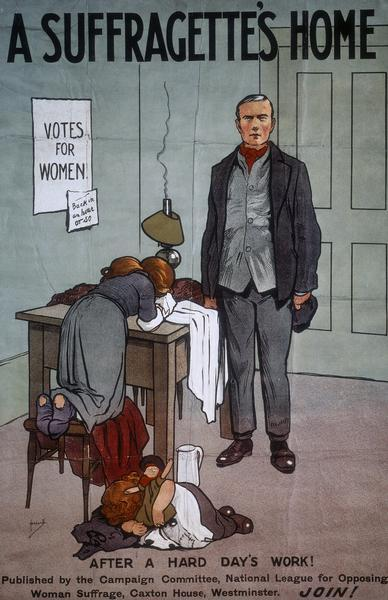 "Antique ""A Suffragette's Home"" poster"