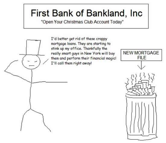 Mortgage Loan Cartoon Crappy Mortgage Loans