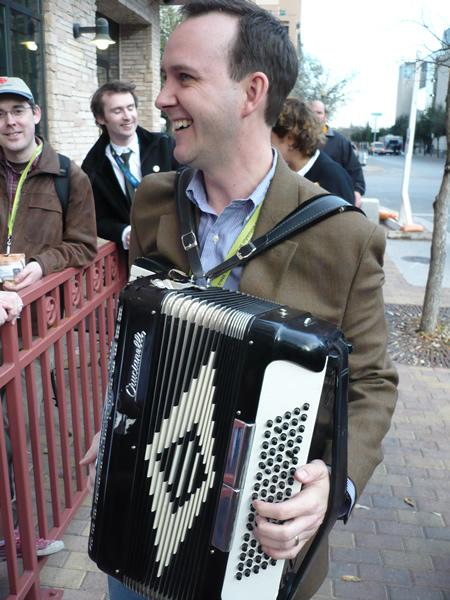 Scott Monty plays my accordion