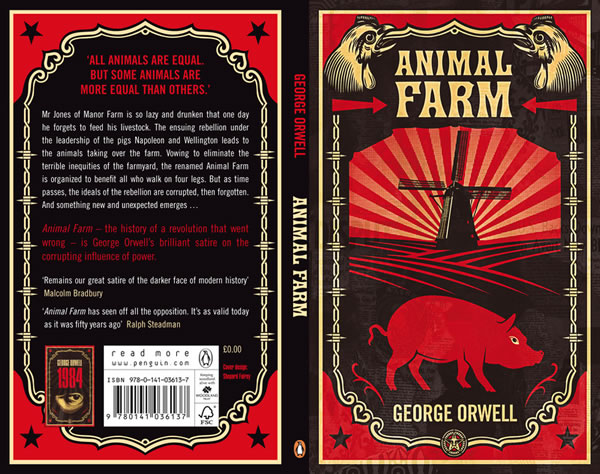 Penguin S Redesigned Covers For 1984 And Animal Farm The Adventures Of Accordion Guy In The 21st Century