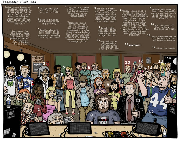 """""""Subnormality"""" comic: """"The Crowd at a Rock Show"""""""